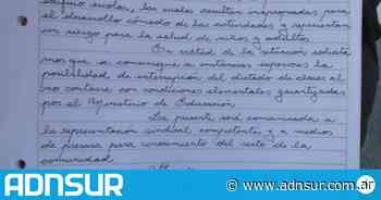 Docentes del Perito Moreno piden que se suspendan las clases por falta de calefacción - ADN Sur