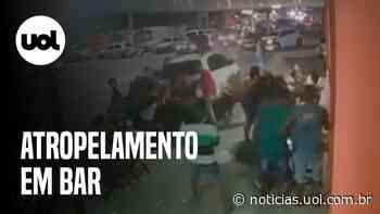 Carro invade calçada de bar e deixa feridos em Feira de Santana - UOL Notícias