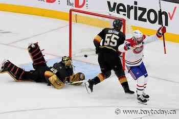 Montreal hangs on for 3-2 win to even series with Golden Knights at a game each