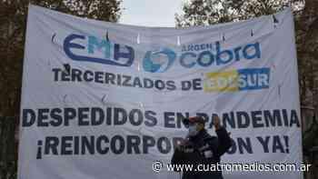 Quilmes: trabajadores tercerizados de Edesur comienzan un acampe frente al ministerio de Trabajo - Cuatro Medios