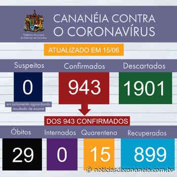 Boletim epidemiológico COVID-19 de Cananeia do dia 15/06 - Noticia de Cananéia