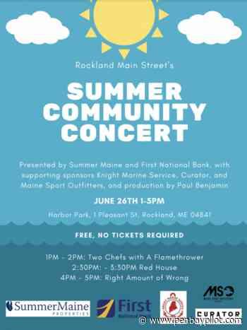 Free Summer Community Concert in Rockland, June 26 - PenBayPilot.com