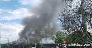 Autoridades reportan la incineración del peaje de Villa Rica, Cauca - infobae