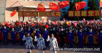 China launches first three-man crew to new space station - Thompson Citizen