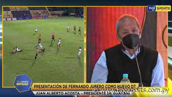 Juan Alberto Acosta, en la presentación de Fernando Juibero - Tigo Sports