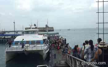 Após dois dias operando com conexão, travessia entre Salvador e Morro de São Paulo retoma viagens diretas - G1