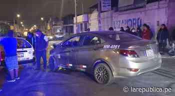 Tacna: conductor aparentemente ebrio choca contra un taxi y deja un herido - LaRepública.pe