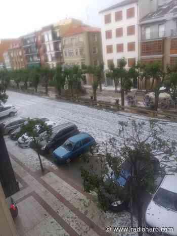 Una fuerte tormenta deja las calles de Santo Domingo llenas de agua y granizo - Radio Haro - Cadena SER