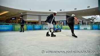 Patinação no gelo do Shopping Palladium Umuarama traz diversão para toda família - ® Portal da Cidade | Umuarama