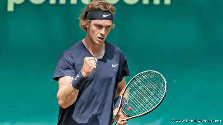 Andrey Rublev's 'confidence on grass growing' after two wins in Halle