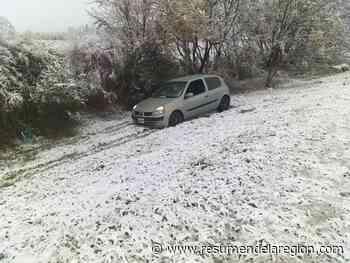 La nieve también causó despistes en Santa Ana y Anisacate - Diario Resumen