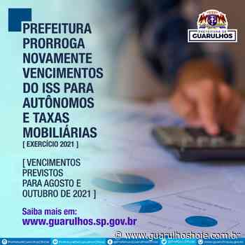 Prefeitura prorroga vencimentos do ISS para autônomos e taxas mobiliárias - Guarulhos Hoje