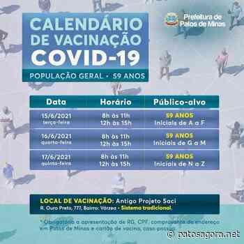 Covid-19: informe sobre encerramento da vacinação para trabalhador da saúde - Patos Agora