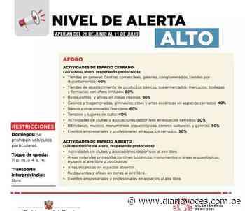San Martín: toque de queda a partir de las 11 de la noche - Diario Voces