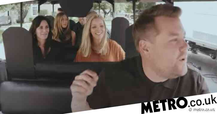Friends cast belt out I'll Be There For You with James Corden in emotional Cart-pool Karaoke