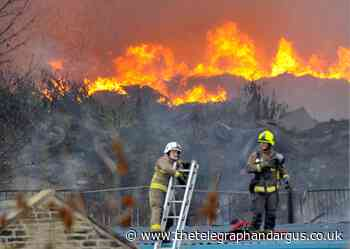 Nine of the 20 biggest emergency responses to fires in West Yorkshire took place in Bradford District