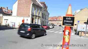 Sécurité : Des crayons aux abords des écoles de Bergues - Le Journal des Flandres