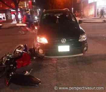 Motociclista herido en choque con un auto en San Francisco Solano - Perspectiva Sur