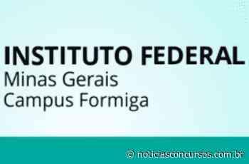 IFMG anuncia novo Processo seletivo no Campus de Formiga - Notícias Concursos