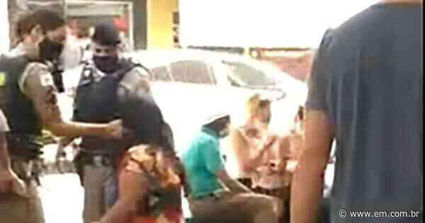 Mulher toma tapas na cara de policial em Formiga; veja vídeo - Estado de Minas