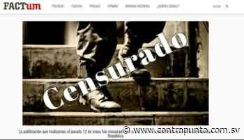 FACTUM retira nota de confesión del psicópata de Chalchuapa tras orden judicial - ContraPunto