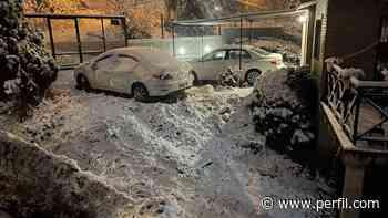 Nieva en Córdoba: Capital y Villa Carlos Paz amanecieron repletas de blanco - Perfil.com