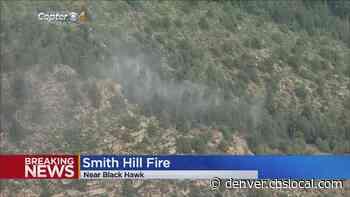 Crews Battle Smith Hill Fire Southeast Of Golden Gate Canyon State Park - CBS Denver
