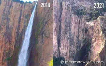 Drought dries up Copper Canyon waterfall although some blame mining - Mexico News Daily