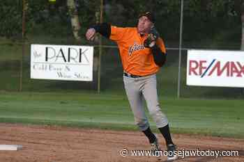 Do it for Jax: Moose Jaw Giants catcher MacDonald homers for fallen son in first at bat of season - moosejawtoday.com