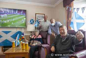 Scotland legend Alan Rough meets care home residents to talk about hopes of beating England in Euro 2020 clash - The Scotsman
