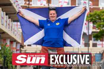 Only Scotland fan in England's most patriotic housing estate proudly waves Saltire – but she's outnumbered... - The Scottish Sun
