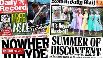 Scotland's papers: 'Summer of discontent' and 20,000 fans head south - BBC News