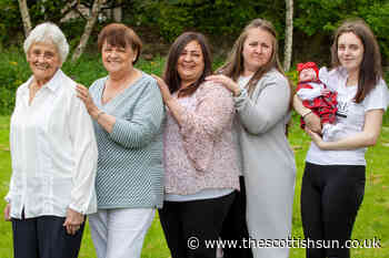Scotland's only great-great-great gran welcomes 90th grandkid as family spans six generations... - The Scottish Sun