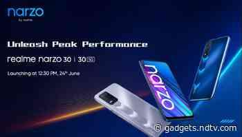 Realme Narzo 30 5G, Realme Narzo 30, 32-Inch Realme Smart TV India Launch Date Set for June 24, CEO Confirms