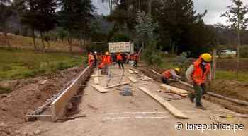 Piura: Pobladores de Huancabamba se benefician con obras de saneamiento - LaRepública.pe