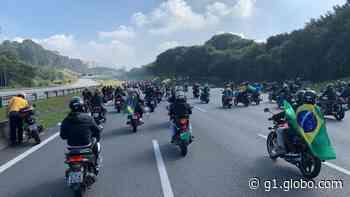 Pedágio da Rodovia dos Bandeirantes registra cerca de 6,6 mil veículos no passeio de Bolsonaro com motociclistas - G1