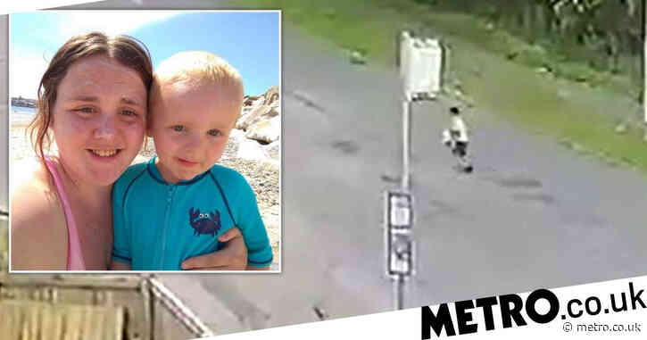 Boy, 4, crosses busy roads alone after escaping school