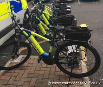Five electric bikes for police officers in Hertsmere