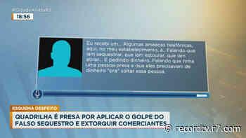 Quadrilha do golpe 'falso sequestro' é presa no Rio de Janeiro - Record TV