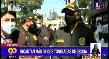 San Isidro: PNP incauta más de dos toneladas y media de droga - El Comercio Perú