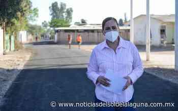 Verifica Marina Vitela terminación de la pavimentación del ejido El Castillo - Noticias del Sol de la Laguna