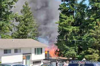 UPDATE: Explosions heard from Armstrong house fire – Salmon Arm Observer - Salmon Arm Observer