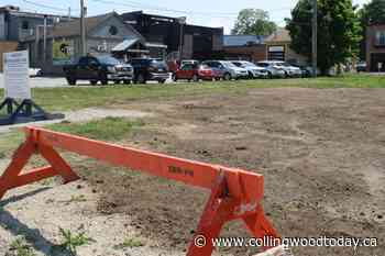 Thornbury business owners frustrated downtown parkettes not finished yet - CollingwoodToday.ca
