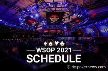 2021 WSOP Turnierplan veröffentlicht; 88 Bracelet Events