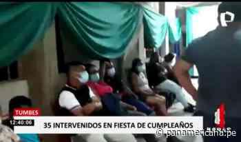 Tumbes: intervienen a más de 30 que celebraban fiesta en Zarumilla - Panamericana Televisión