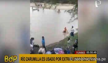 Tumbes: extranjeros ilegales cruzan río Zarumilla para ingresar a nuestro país - Panamericana Televisión