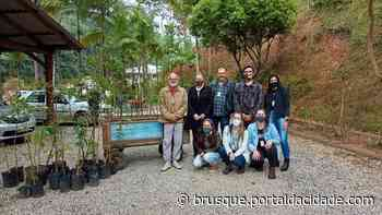 Mais de 40 árvores nativas são plantadas em fazenda do bairro Limeira - ®Portal da Cidade | Brusque