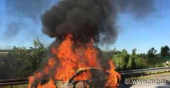 A6 bei Bad Rappenau: Fahrzeug brannte komplett aus (Update) - Rhein-Neckar Zeitung