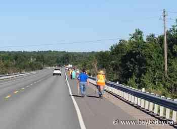 Junction Creek Water Walk taking place on Highway 17 W