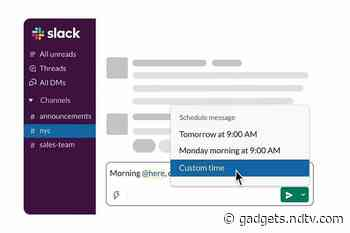 Slack Getting Scheduled Send Message Feature, Users Can Now Set Custom Date, Time for Messages
